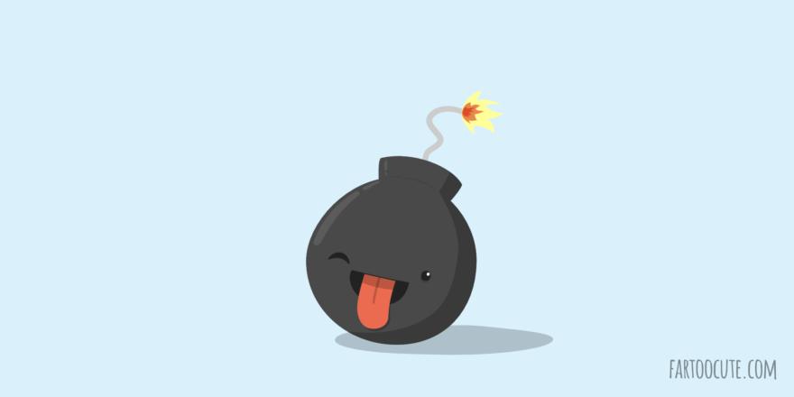 Cute Bomb Cartoon