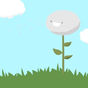 Cute Dandelion Cartoon