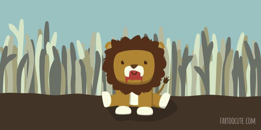 Cute Little Lion Cartoon