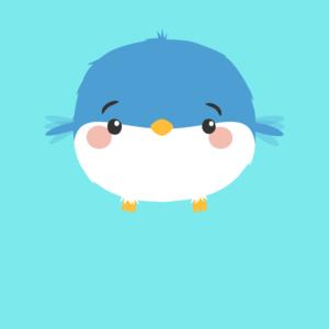 Cute little bird cartoon