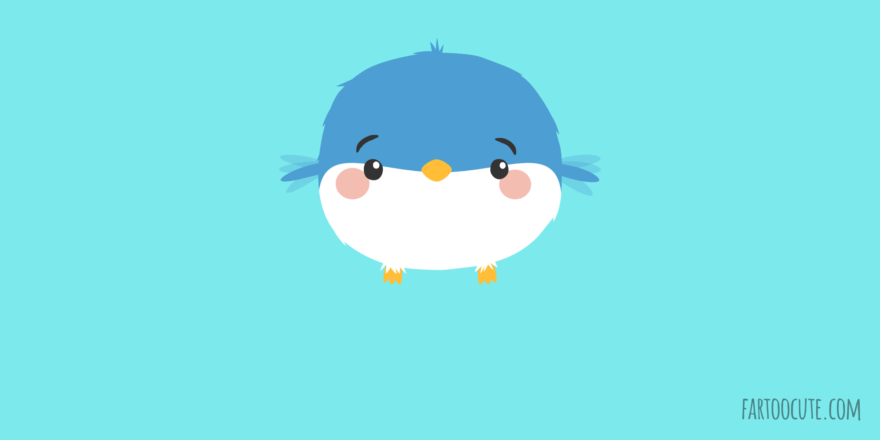 Cute little bird cartoon