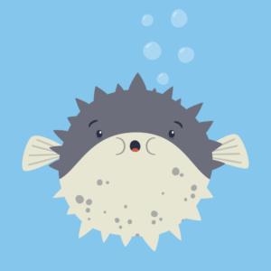Cute Pufferfish Cartoon