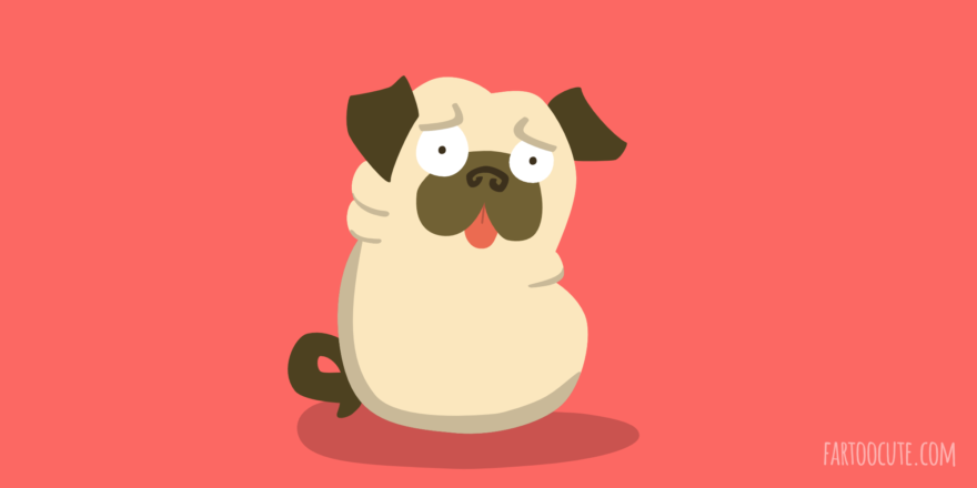 Cute Pug Cartoon