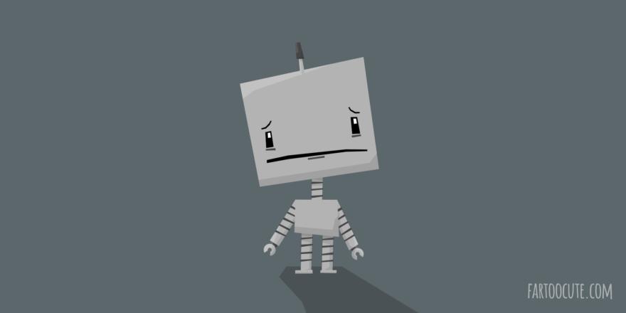 Cute Robot Cartoon