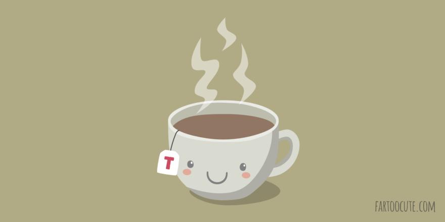 Cute Cup of Tea Cartoon