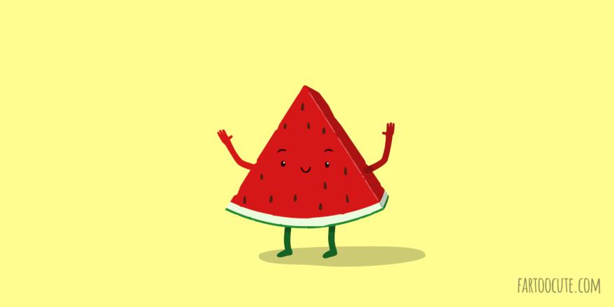 Cute Watermelon Cartoon