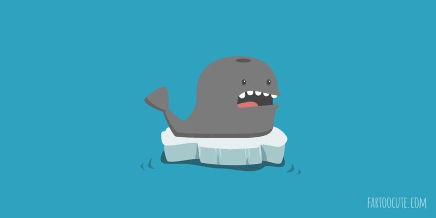 Cute Whale Cartoon Pun