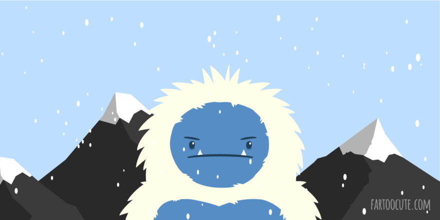 Grumpy Yeti Cartoon